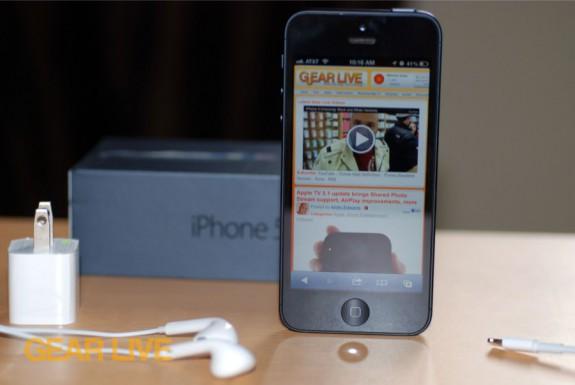 iPhone 5 black & slate unboxed