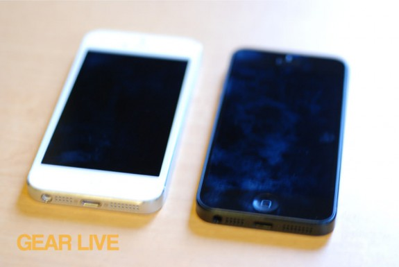 Black & White iPhone 5 front glass