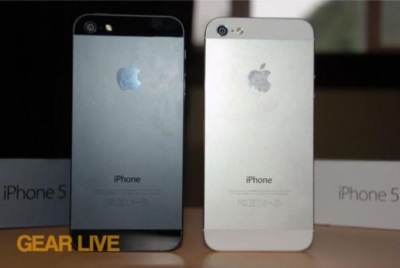 Black & White iPhone 5 rear aluminum