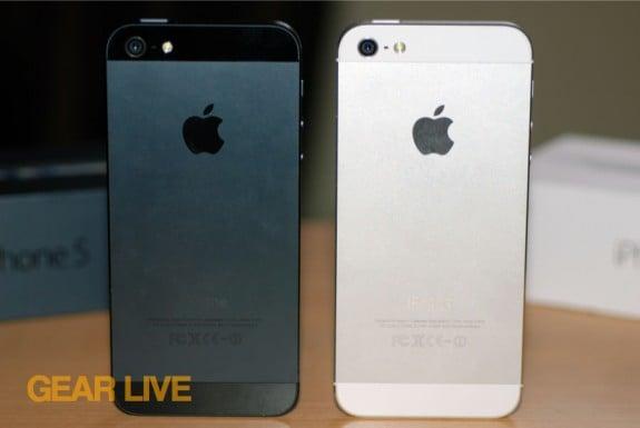 Black & White iPhone 5 rear