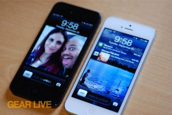Black & White iPhone 5 displays