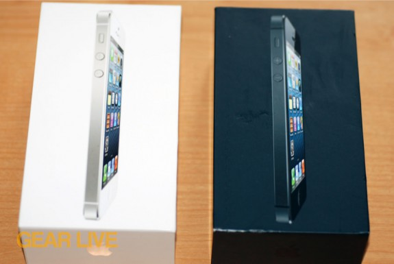 Black & White iPhone 5 boxes
