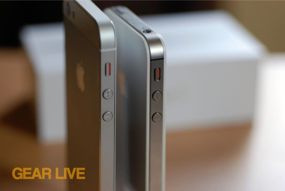 iPhone 5 and iPhone 4S metal frames compared