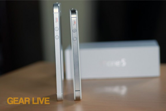 iPhone 5 and iPhone 4S side profiles