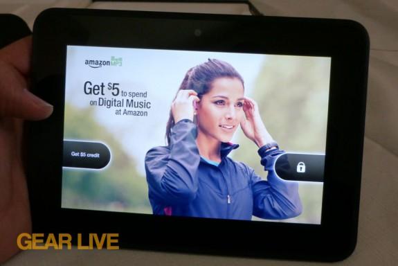 Amazon Kindle Fire HD 7 Free MP3 credit