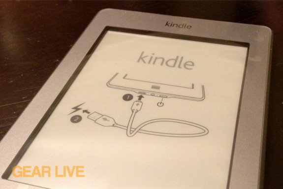 Kindle touch display with plastic