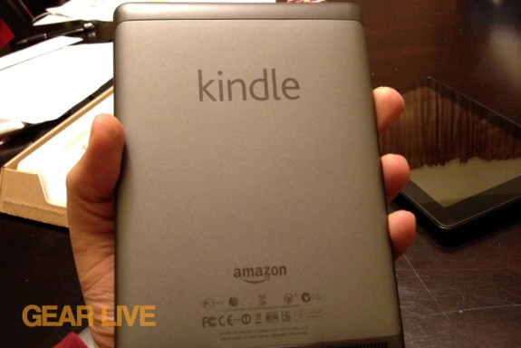 Kindle touch back