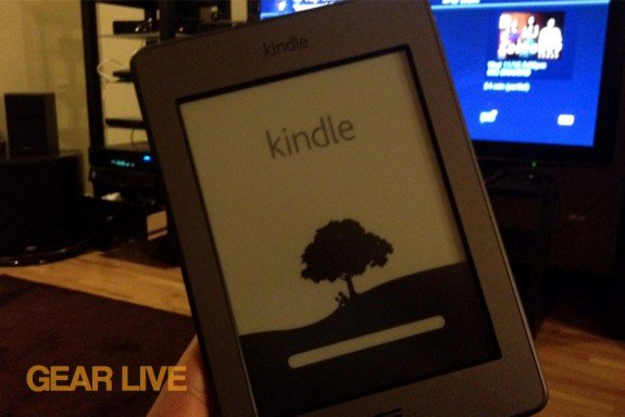 Kindle touch powered on