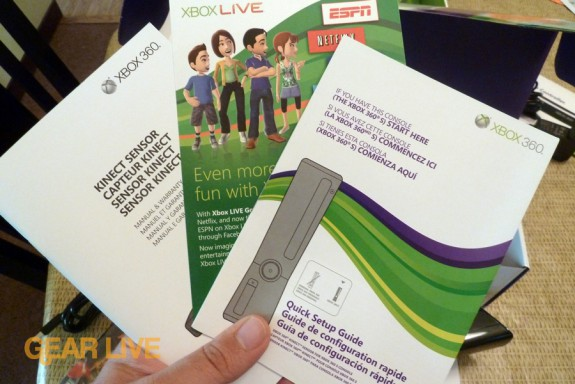 Kinect insruction manuals