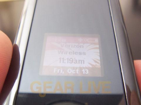 Motorola KRZR Outer Screen