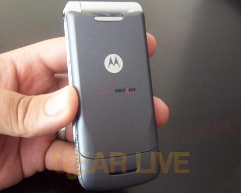 Back of Motorola KRZR