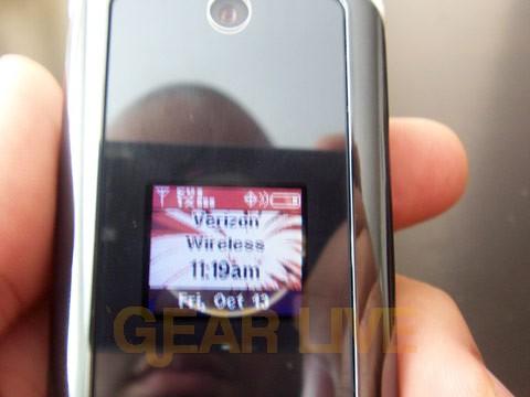 Motorola KRZR Status Screen