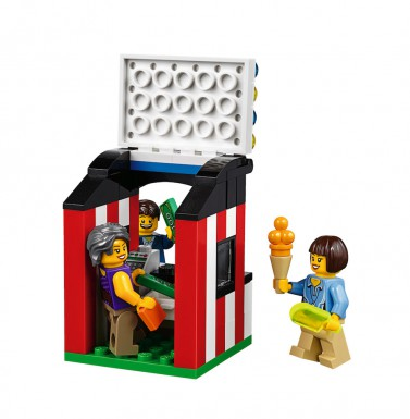 LEGO Fairground Mixer 10244 - Minifigs in ticket booth