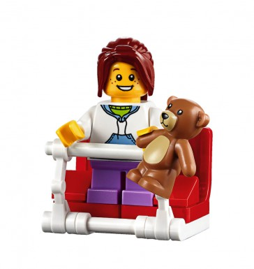 LEGO Fairground Mixer 10244 - Girl Minifig with bear
