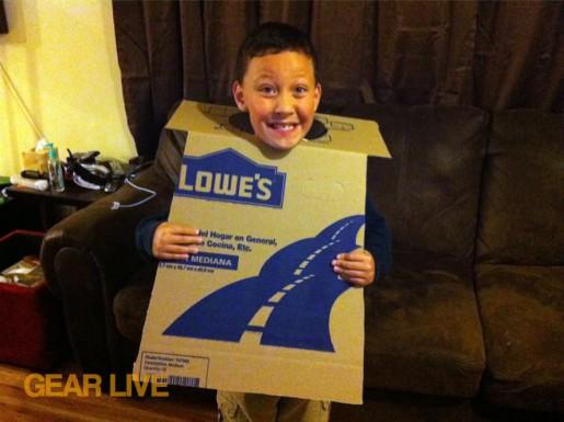 The cardboard torso LEGO Superhero Halloween costumes