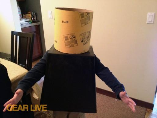 Testing child outfit LEGO Superhero Halloween costumes