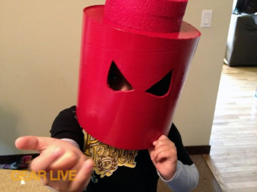 Spider-Man head for LEGO Superhero Halloween costumes