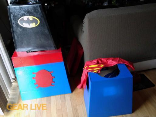 Putting logos on LEGO Superhero Halloween costumes