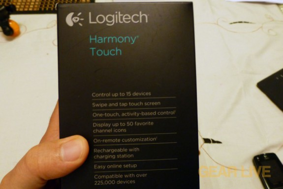 Logitech Harmony Touch details