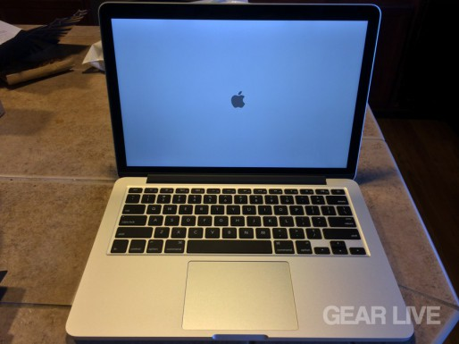 MacBook Pro (late 2013) powered on