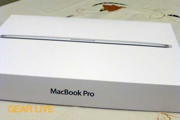 Retina MacBook Pro box