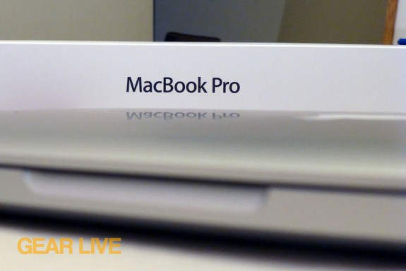 MacBook Pro logo on box