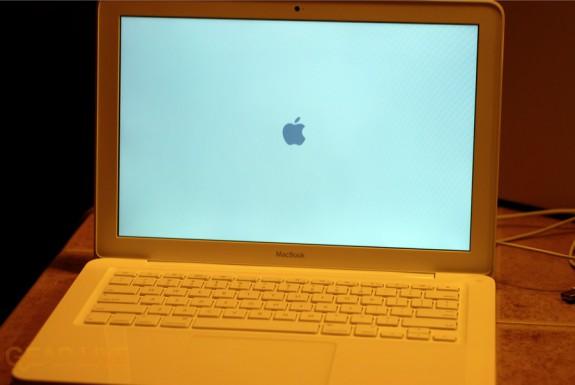 Unibody MacBook powered on
