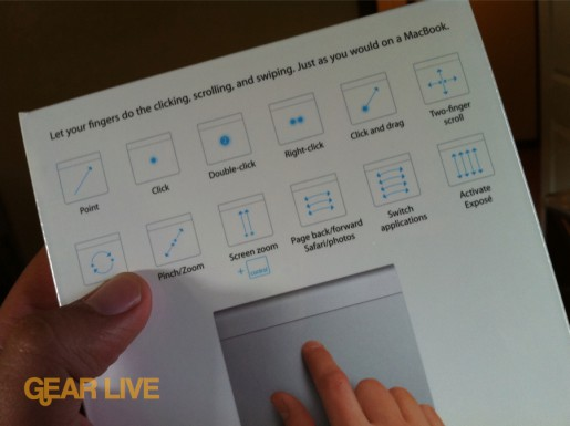 Magic Trackpad multi-touch gesture guide