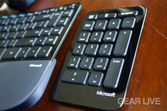 Microsoft Sculpt Ergonomic Desktop wireless number pad