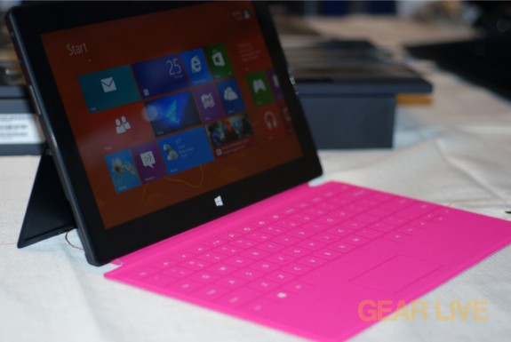 Microsoft Surface pink Touch Cover