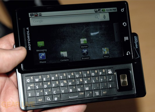 Motorola DROID QWERTY keyboard
