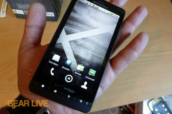 Motorola Droid X home screen