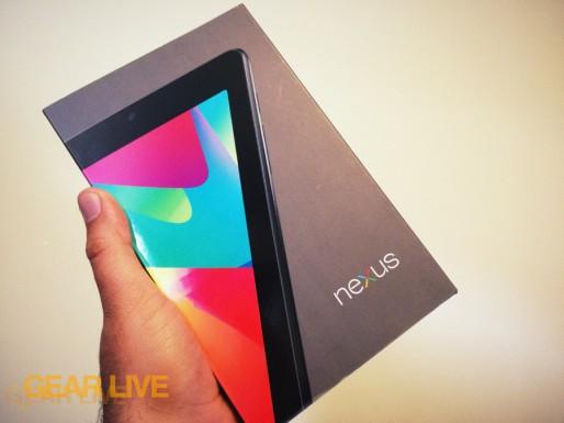 Nexus 7 box in-hand