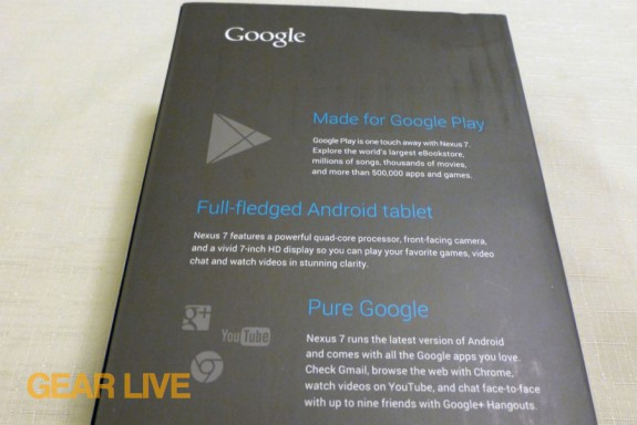 Nexus 7 box rear