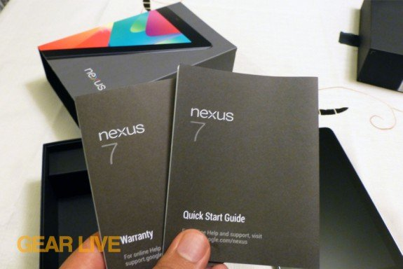 Nexus 7 instruction manual