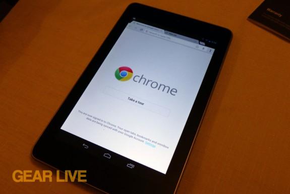 Nexus 7 tablet Chrome browser