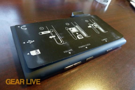 Nokia Lumia 900 rear sticker