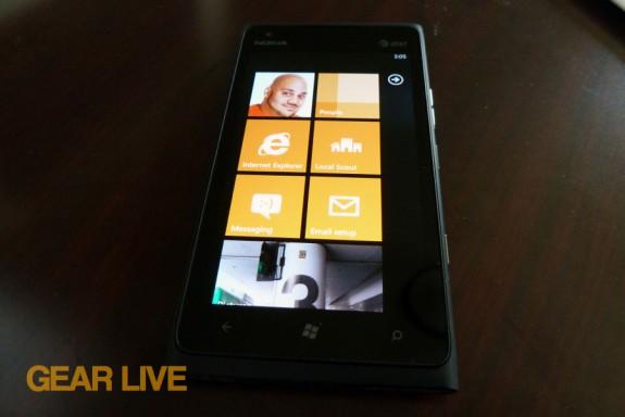 Nokia Lumia 900 powered on