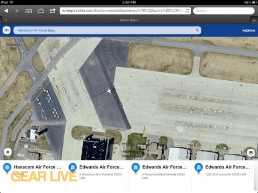 Nokia Maps Handscom Air Force Base
