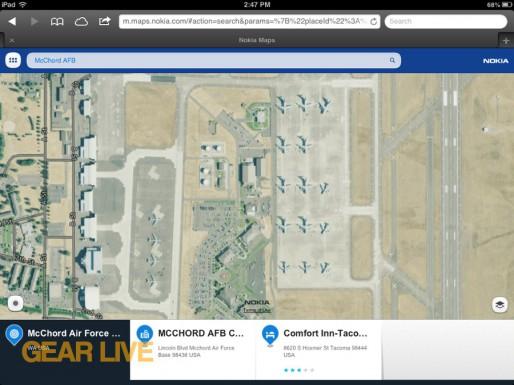Nokia Maps McChord Air Force Base