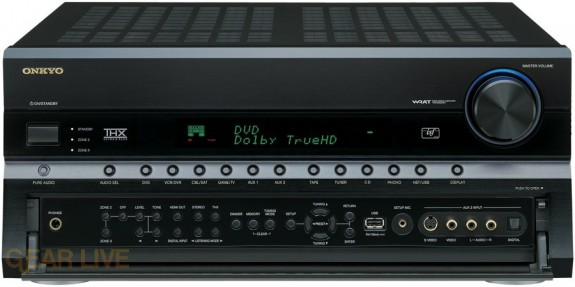 Onkyo TX-NR906 front panel opened