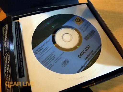 Panasonic Lumix ZS7 software disc