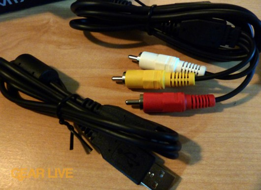 Panasonic Lumix ZS7 sync and video cables