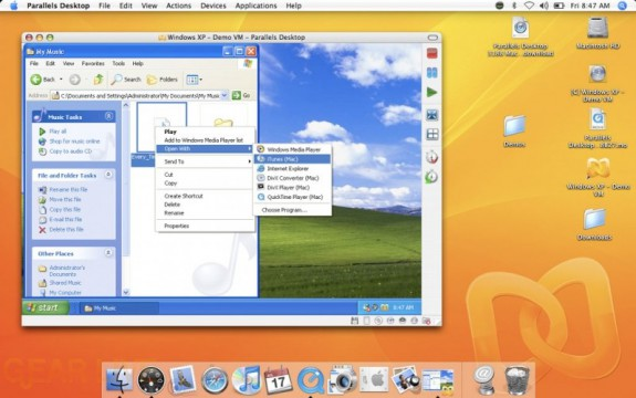 Parallels SmartSelect