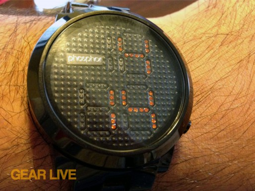 Phosphor Appear Men Black and Orange watch
