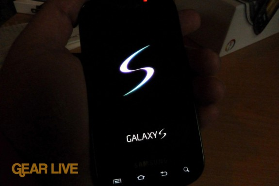 Samsung Galaxy S logo on Epic 4G