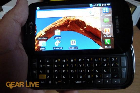 Samsung Epic 4G landscape
