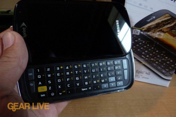 Samsung Epic 4G unboxed
