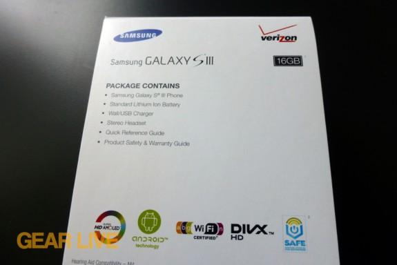 Samsung Galaxy S III specs