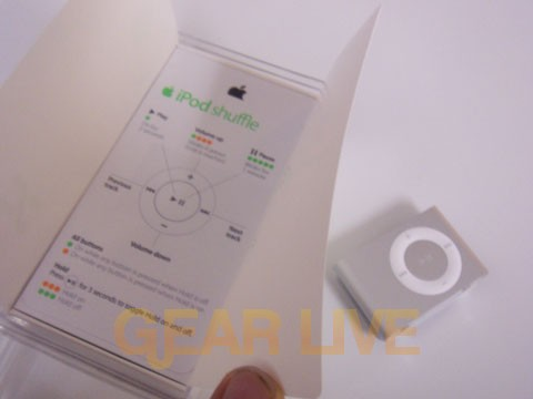 Apple's Included shuffle Paperwork
